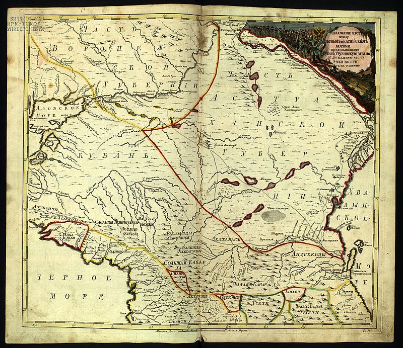 Карты горячего ключа и предгорья кавказа.