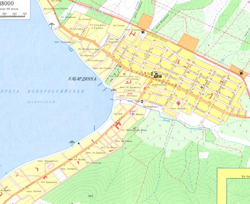 Горячий ключ - Карты: http://www.psekups.ru/maps/map_towns.html