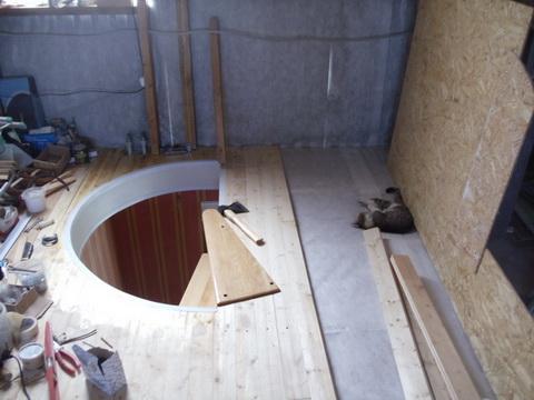 Лестница на второй этаж. Оформление проема