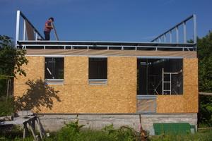 Каркасный дом - перекрытие и мансарда второго этажа