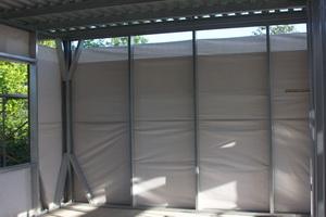 Каркас дома - парозащита, каркас дома. снаружи установлены листы осб