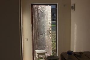 Входная дверь в дом из ЛСТК