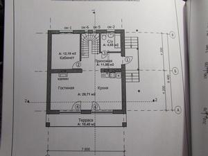 Архитектурный план каркасного дома